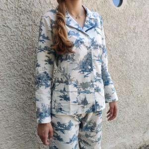 Toile de Jouy Blue - Women...