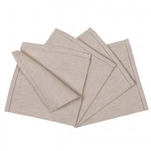 Tovaglioli - 4 Solid Linen...