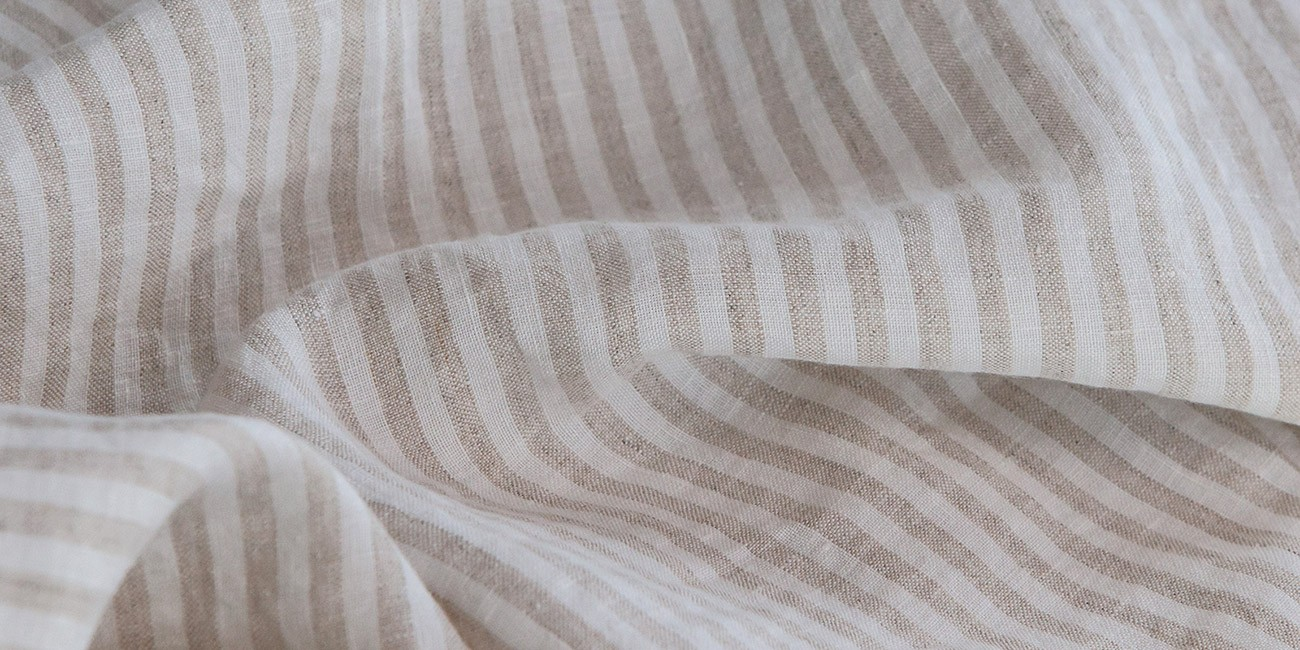 Bed linens striped